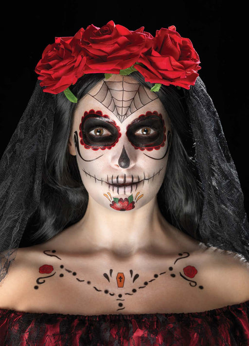 Day Of The Dead Face Transfers Kit