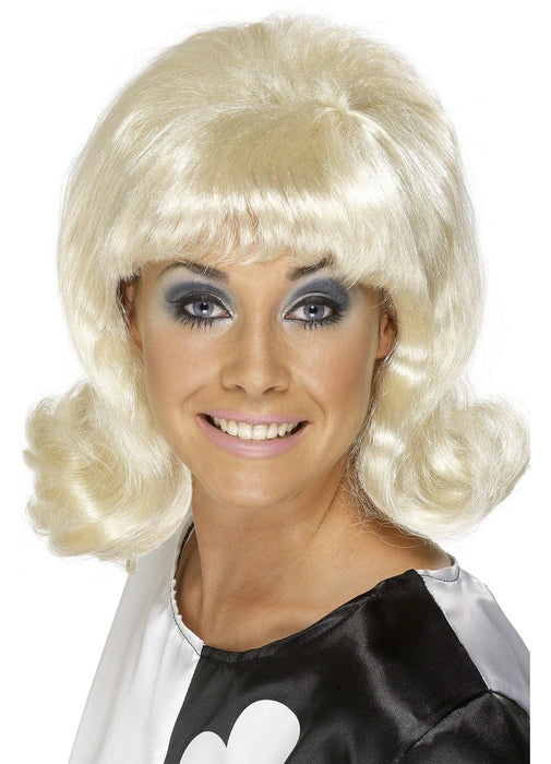 60's Flick-Up Wig Blonde