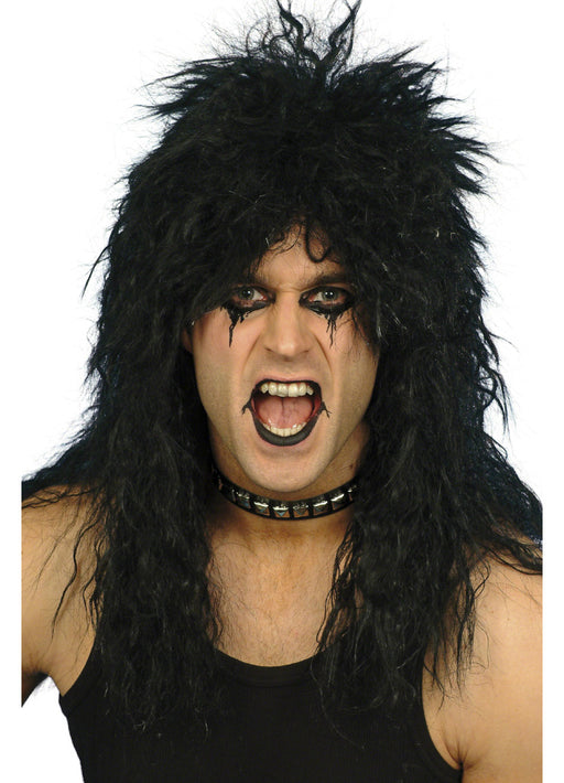 Black Hard Rocker Wig