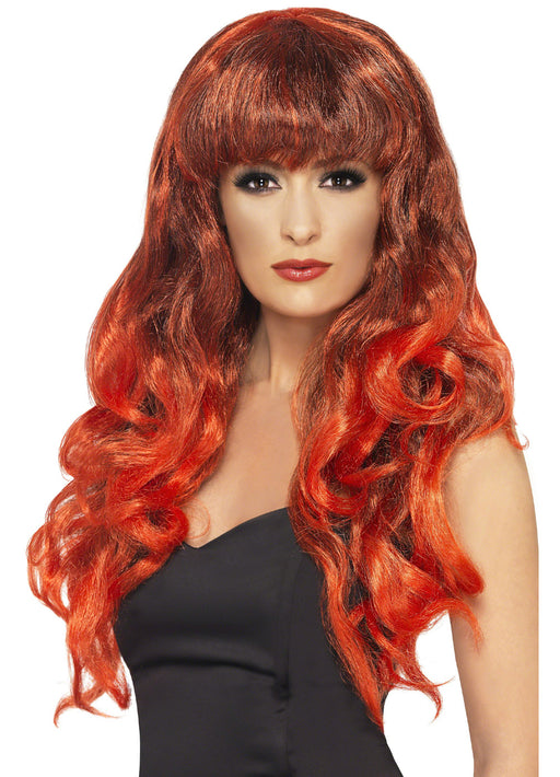 Siren Wig Red & Black
