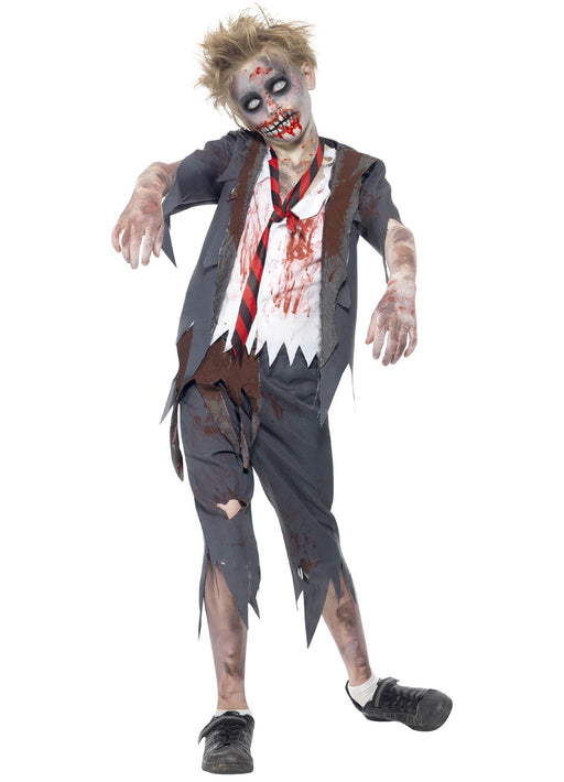 Zombie School Boy Costume Child