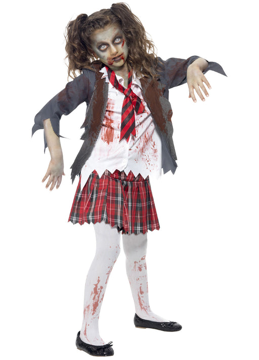 Zombie School Girl Costume Child