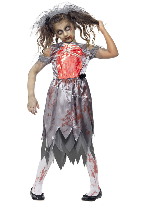 Zombie Bride Costume Child