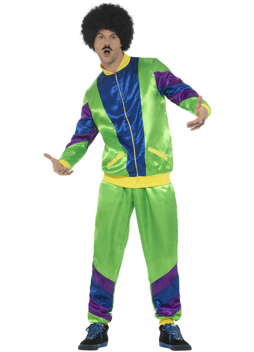 80's Green Shell Suit Costume Adult
