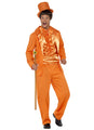 90's Stupid Orange Tuxedo Costume Adult