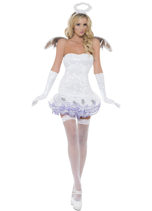 Fever Sequin Angel Costume Adult