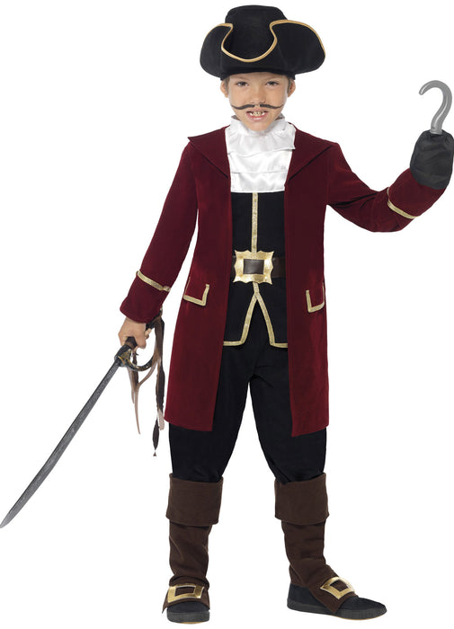 Deluxe Pirate Captain Costume Child