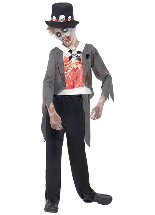 Zombie Groom Costume Child