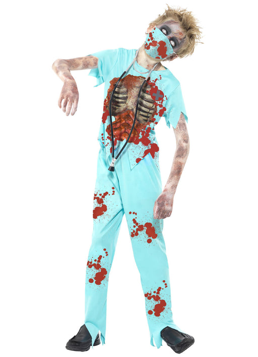Zombie Surgeon Costume Child