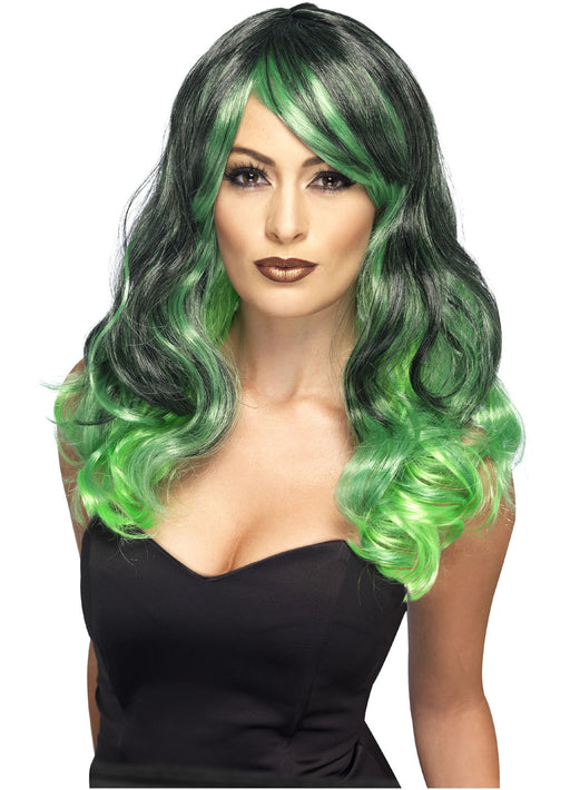 Green & Black Ombre Wig