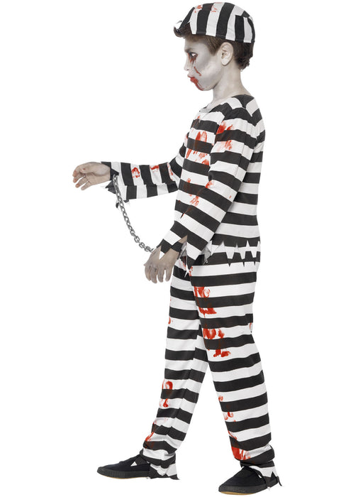 Zombie Convict Costume Child