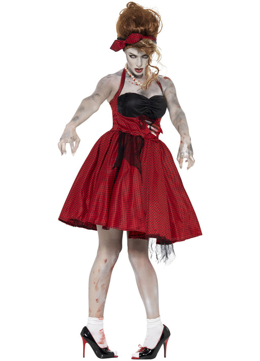 Zombie 50's Rockabilly Costume Adult