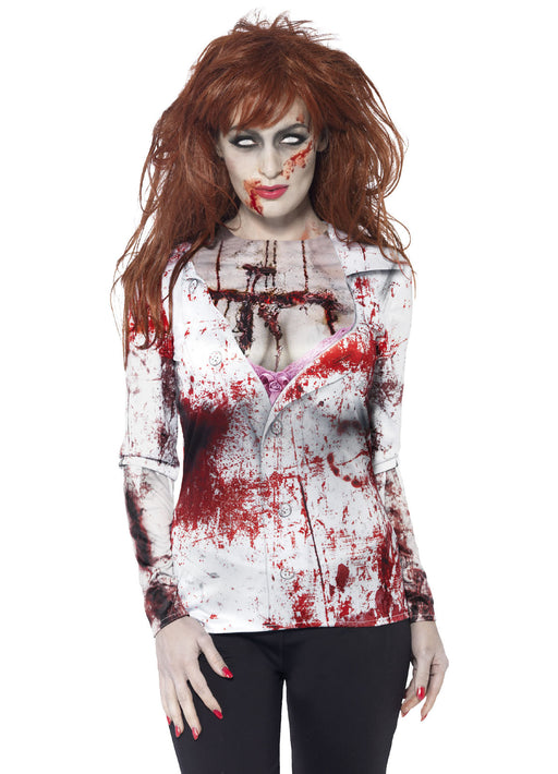 Zombie Female T-shirt Adult