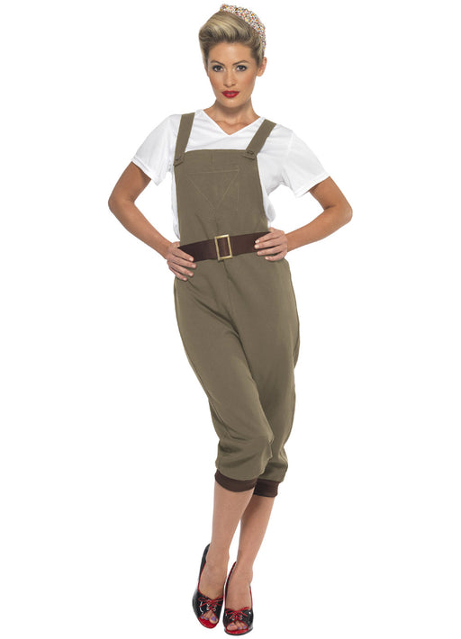 WW2 Land Girl Khaki Costume Adult