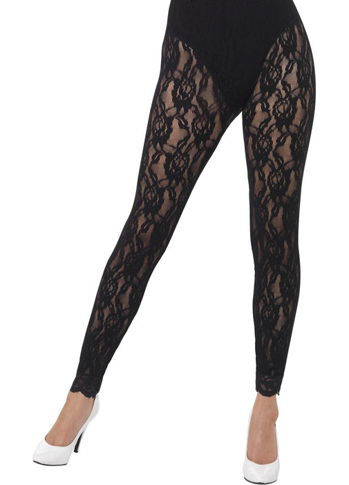 80's Black Lace Leggings