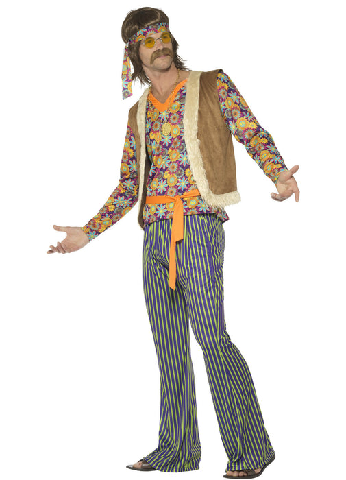 60's Male Hippie Singer Costume Adult