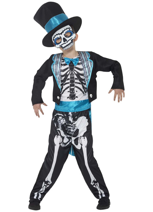Day Of The Dead Groom Costume Child