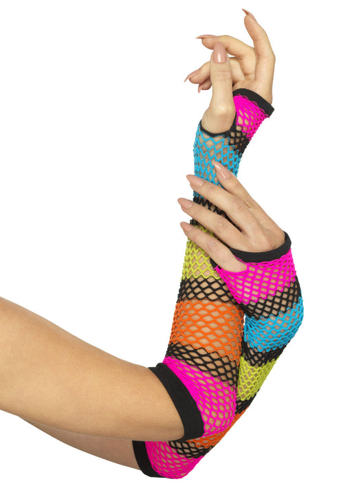 Coloured Fishnet Gloves