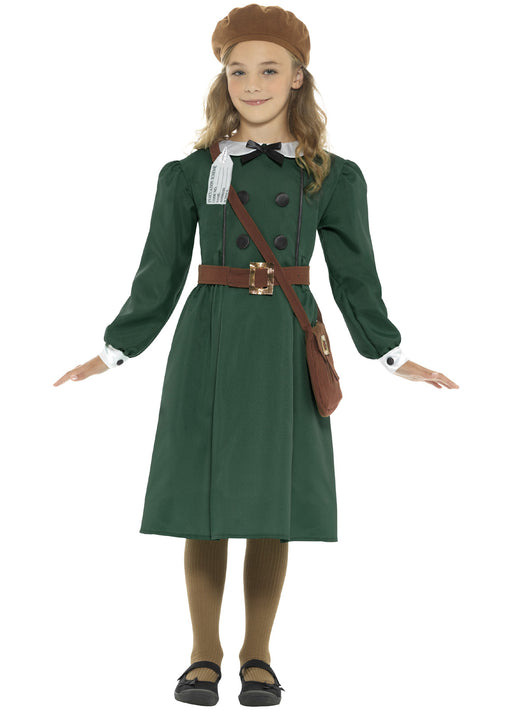 WW2 Evacuee Girl Costume Child