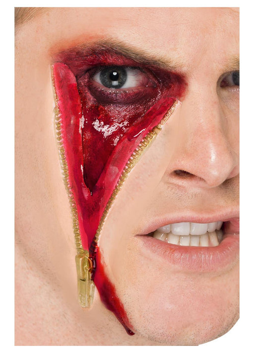 Latex Zip Face Scar