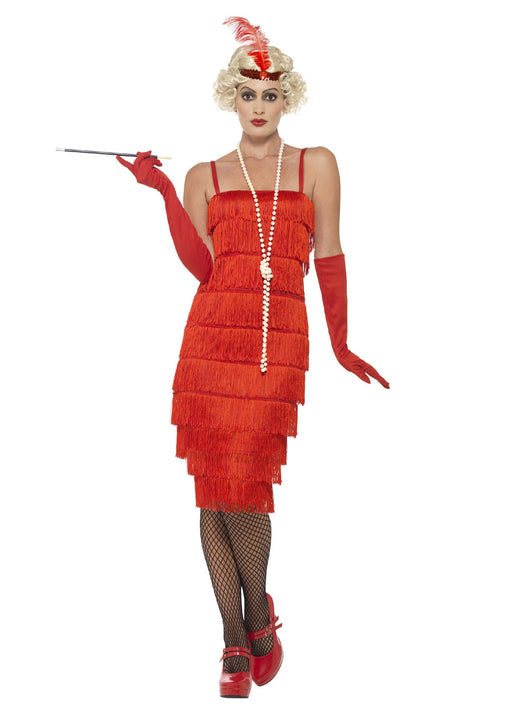Red Flapper Costume Adult