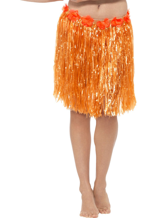 Orange Hawaiian Hula Skirt