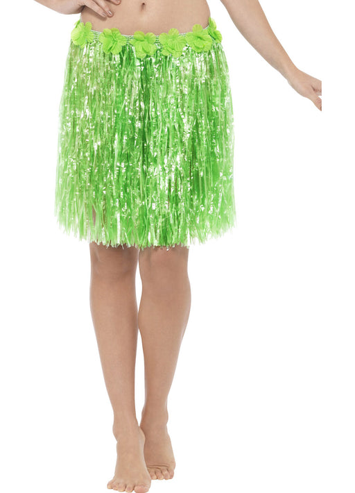 Green Hawaiian Hula Skirt