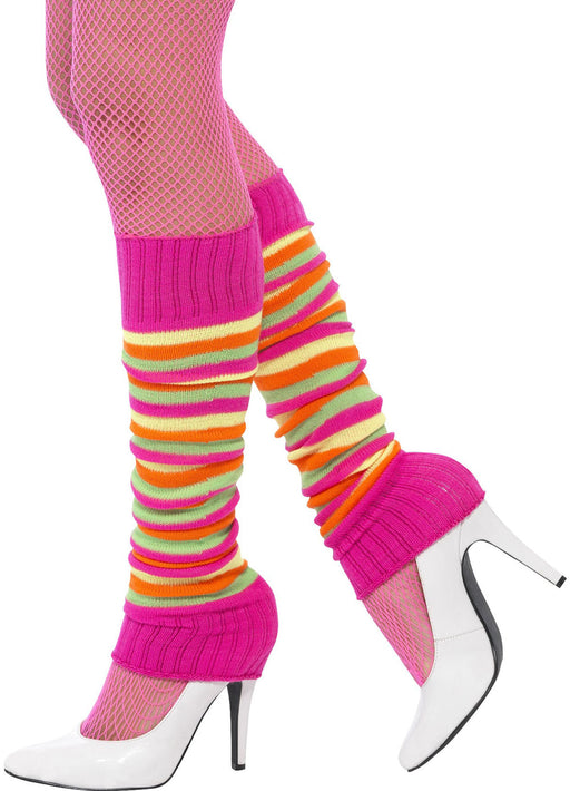 Neon Striped Legwarmers