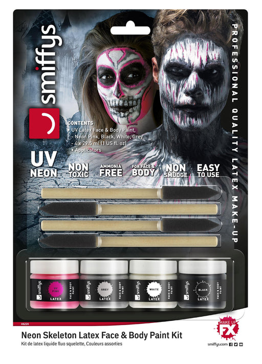 UV Neon Skeleton Latex Paint Kit