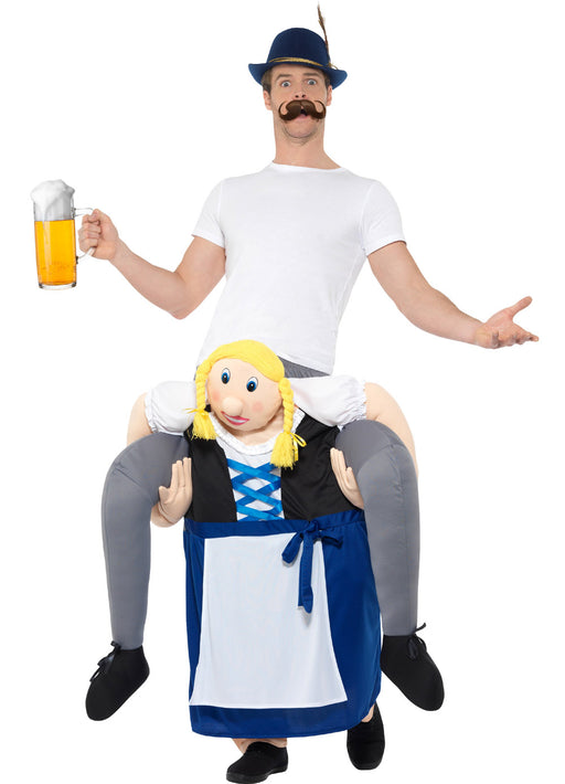 Piggyback Bavarian Beer Maiden Costume Adult