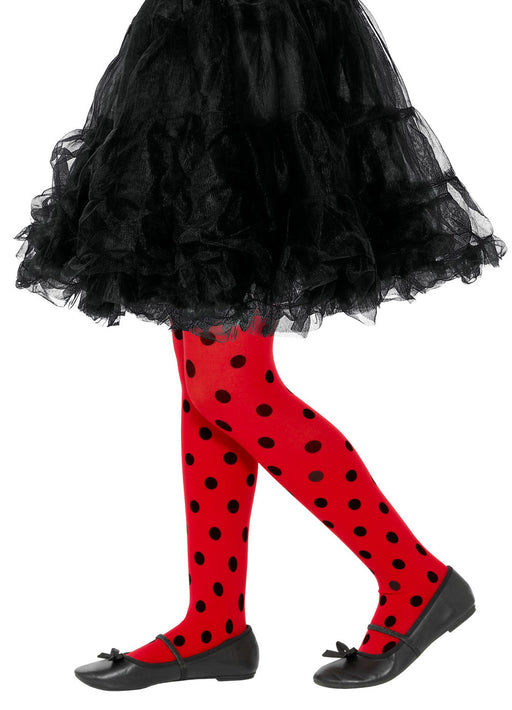 Kids Ladybird Spot Tights