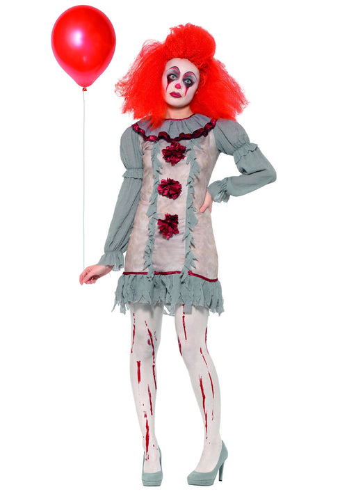 Vintage Clown Lady Costume Adult