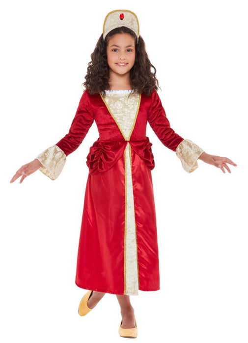 Red Tudor Princess Costume Child