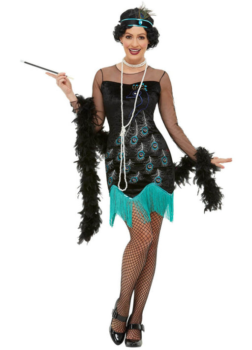 20's Peacock Flapper Costume Adult