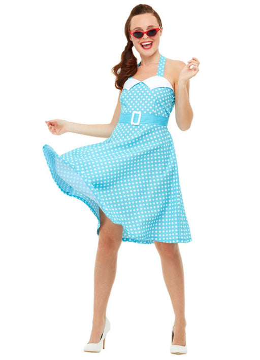50's Blue Pin Up Costume Adult