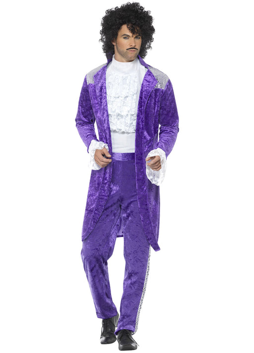 80's Purple Musician Costume Adult