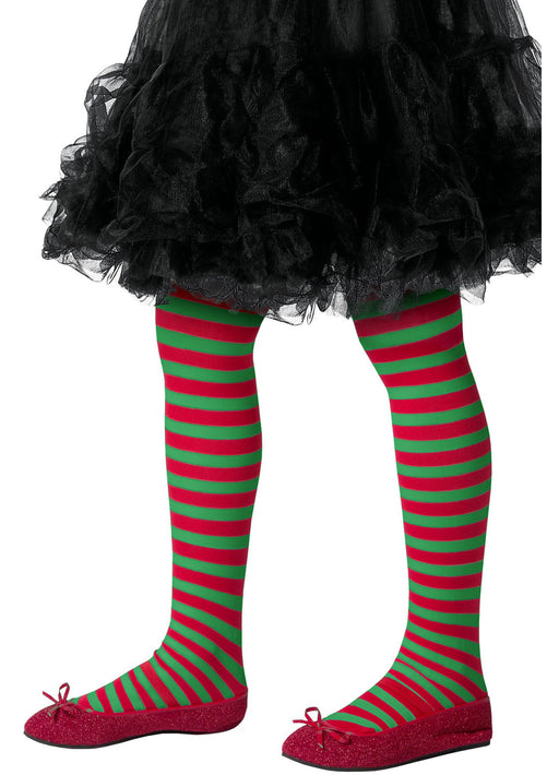 Childs Elf Striped Tights
