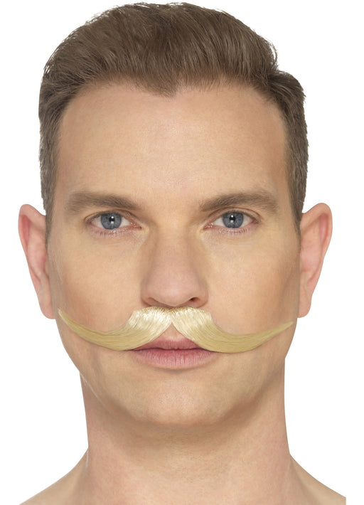 Hand Knotted Blonde Moustache