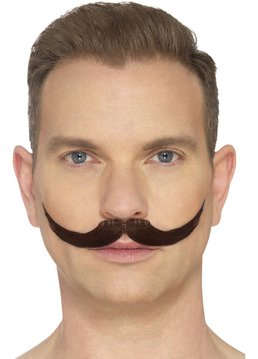 Hand Knotted Brown Moustache