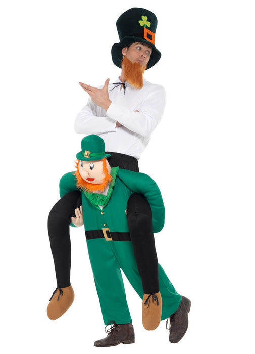 Piggyback Leprechaun Costume Adult