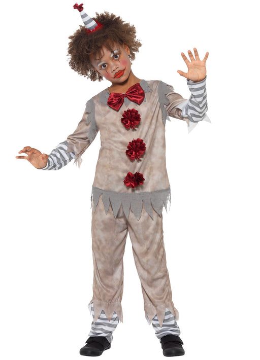 Vintage Clown Boy Costume Child