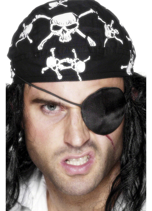 Black Satin Pirate Eyepatch
