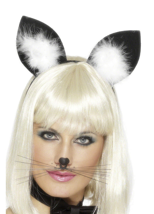 Cat Ears With Marabou Trim
