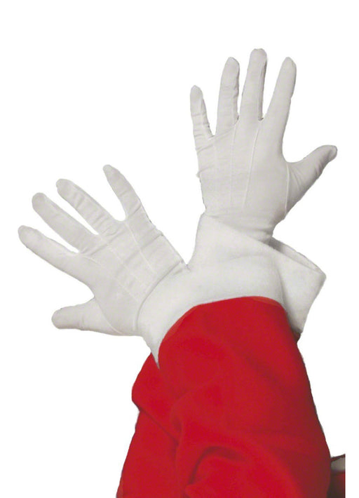White Santa Gloves Adult