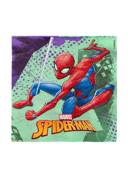 Spiderman Napkins 20pk