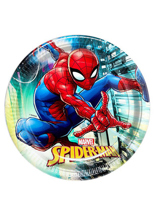 Spiderman Plates 8pk
