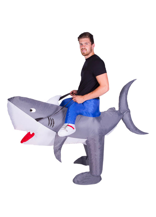 Inflatable Ride On Shark Costume Adult
