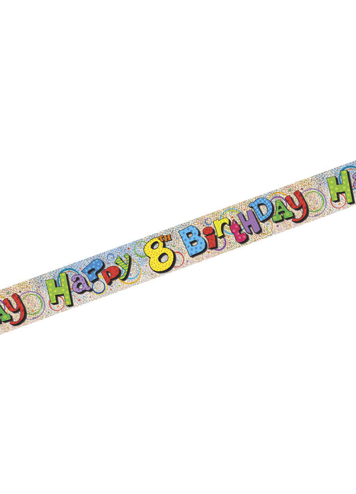 Happy 8th Birthday Foil Banner