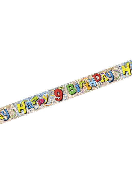 Happy 9th Birthday Foil Banner
