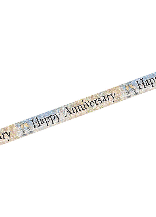 Happy Anniversary Foil Banner